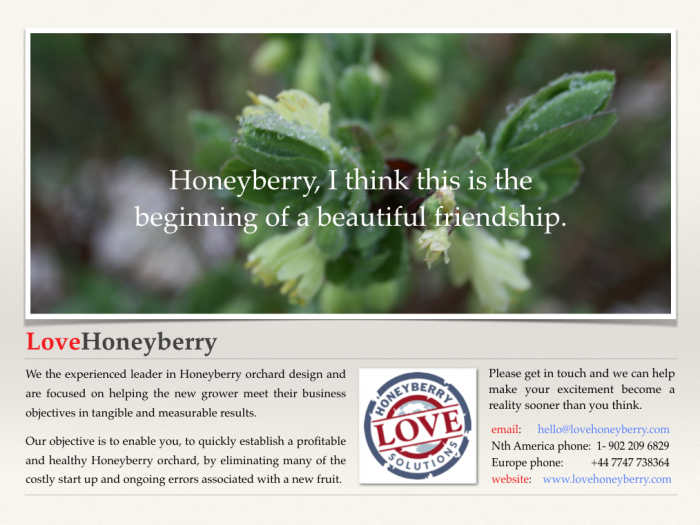 Honeyberry season tour